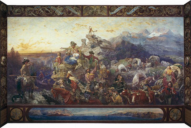 800px-Emanuel_Leutze_-_Westward_the_Course_of_Empire_Takes_Its_Way_-_Capitol