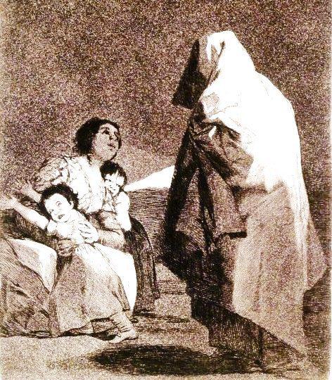 Here comes the Bogey man  Que viene el coco Francisco de Goya