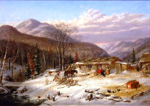 The First Snow  Canadian Homestead, c. 1856 (la Galerie Walter Klinkhoff)