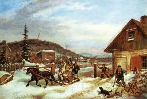 The Toll Gate, by Cornelius Krieghoff, 1861 The National Gallery of Canada