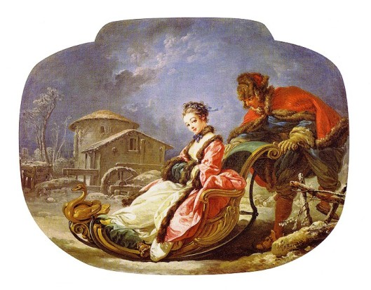 Marie-Antoinette's Sleigh Rides, by François Boucher.  (Photo credit: Catherine Delors