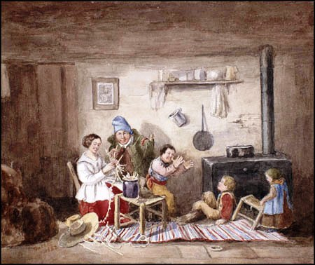 Habitants, by Cornelius Krieghoff, 1852 (Photo credit: Wikipedia)