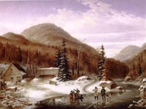 Scene in the Laurentian, by Cornelius Krieghoff