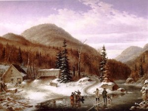Scene in the Laurentian, by Cornelius Krieghoff
