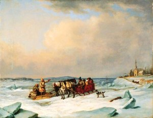 The Ice Bridge at Longueil, by Cornelius Krieghoff, 1847-1848 National Gallery of Canada