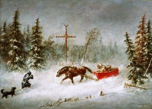 The Blizzard, by Cornelius Krieghoff, 1857 National Gallery of Canada