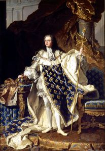 Louis XV by Hyacinthe Rigaud in 1730