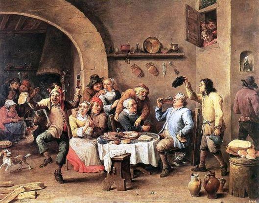 Twelfth Night (The King Drinks) by David Teniers c. 1634-1640