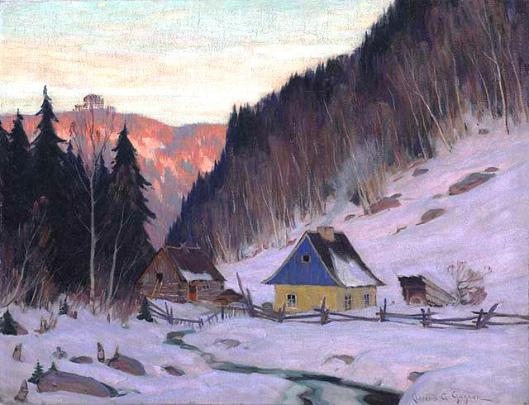 A Laurentian Homestead, by Clarence Gagnon,1919