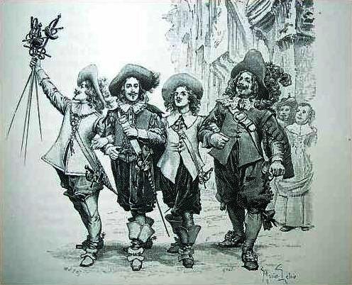 Athos, Porthos, Aramis & D'Artagnan (Photo credit; Wikipedia)