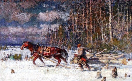 Hauling Logs, Marc-Aurèle de Foy Suzor-Coté (National Gallery of Canada)