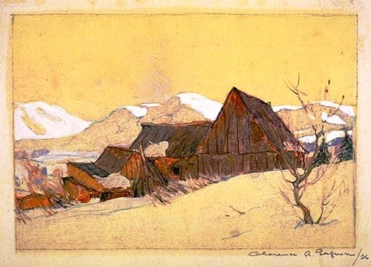Barns, by Clarence Gagnon, 1926