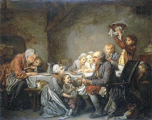 Le Gâteau des Rois, par Jean-Baptiste Greuze, 1774 (musée Fabre).