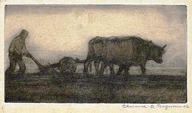 Oxen Ploughing, by Clarence Gagnon, 1902 (National Gallery of Canada)