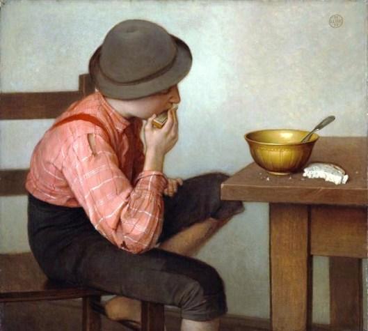 Boy with Bread, by Ozias Leduc