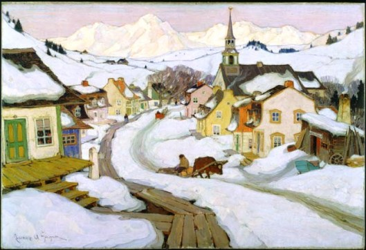 Village dans les Laurentides, Clarence Gagnon, 1925 (National Gallery of Art)