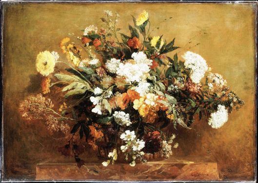 Corbeille de fleurs, by Eugène Delacroix