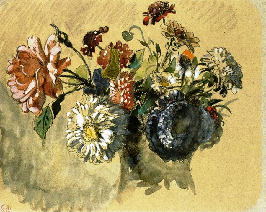 Bouquet of Flowers, by Eugène Delacroix