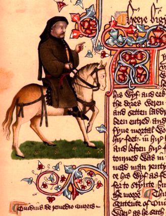 Geoffrey Chaucer from the Ellesmere Manusctipt (Photo credit: Wikipedia)