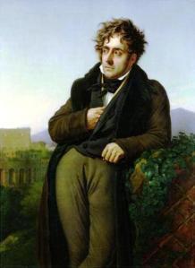 François-René de Chateaubriand by Anne-Louis Girodet de Roussy-Trioson.