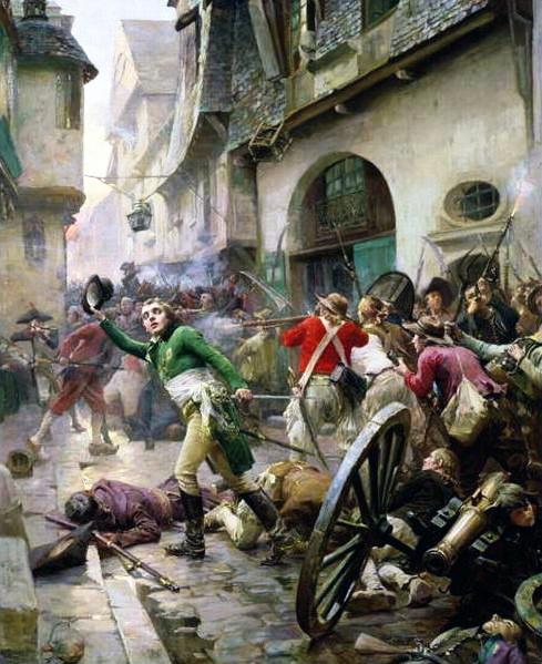 Henri de La Rochejacquelein at the Battle of Cholet in 1793 by Paul-Emile Boutigny, (19th century), Musée d'art et d'histoire de Cholet, Cholet, France.
