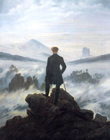 The Wanderer above a Sea of Fog, by Caspar David Friedrich