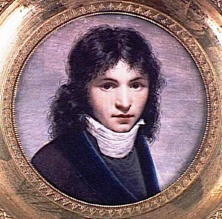 Portrait présumé d'Aimé du Boisguy, peinture de Jean-Baptiste Isabey, 1800.