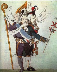 "Charles Maurice de Talleyrand-Périgord, caricature, ""Floating with the Tide"""