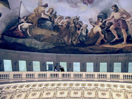 Balcony beneath The Apotheosis of Washington (Photo credit: Wikipedia)