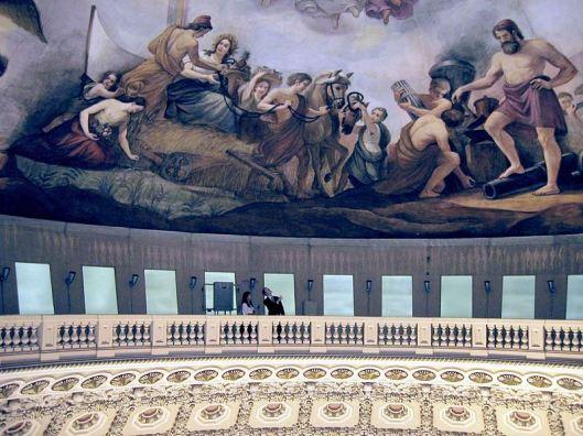 Balcony beneath The Apotheosis of Washington (Photo credit: Wikipedia)