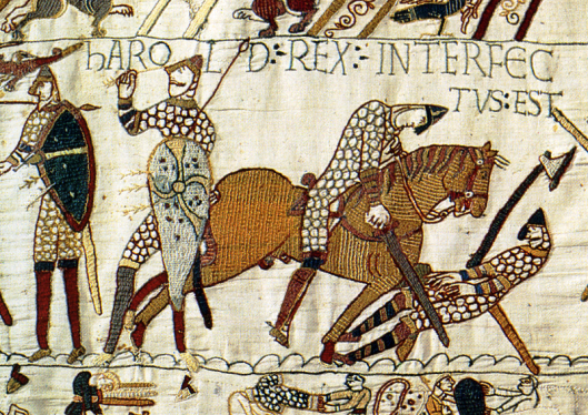 Bayeux Tapestry, King Harold is Killed Photo credit: Goggle Images)