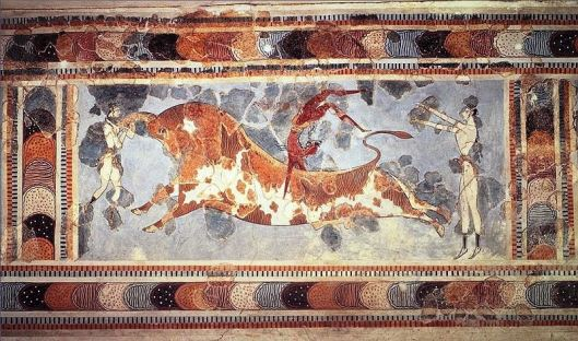 Fresco of bull-leaping from Knossos