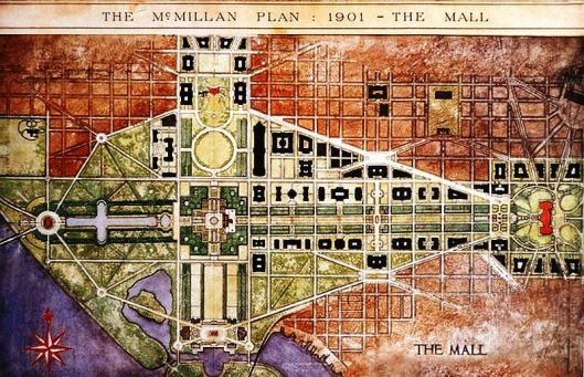 The National Mall was the centerpiece of the McMillan Plan.
