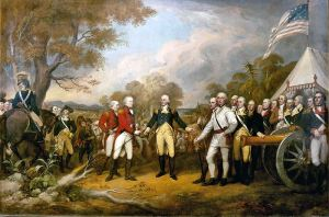 Surrender of General Burgoyne at the Battle of Saratoga, by John Trumbull, 1822