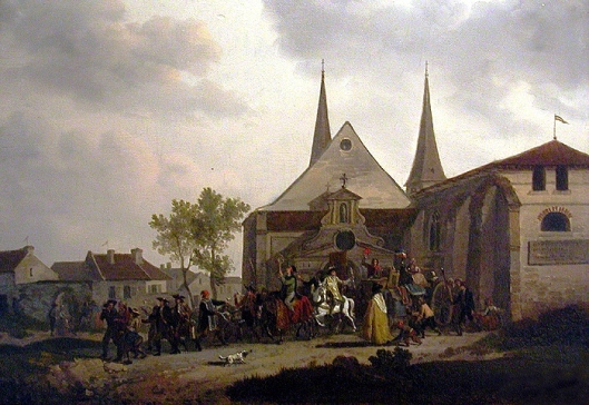 """Disaffectation"" of a church, Jacques François Joseph Swebach-Desfontaines, 1794."