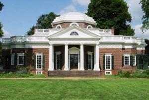 Monticello, Jefferson's home designed by Jefferson