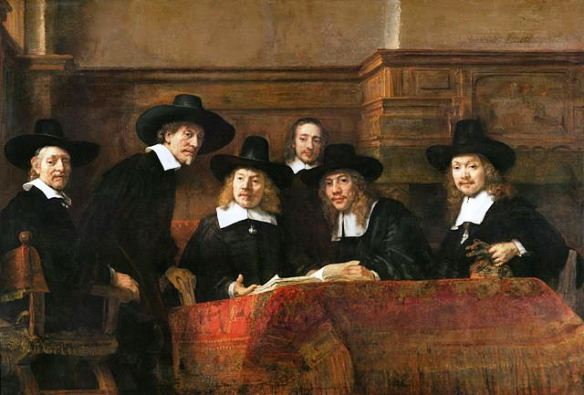 The Syndics of the Drapers' Guild by Rembrandt, 1662.