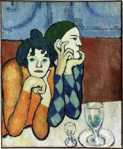 Les Deux Saltimbanques, Two Acrobats, by Picasso , 1901