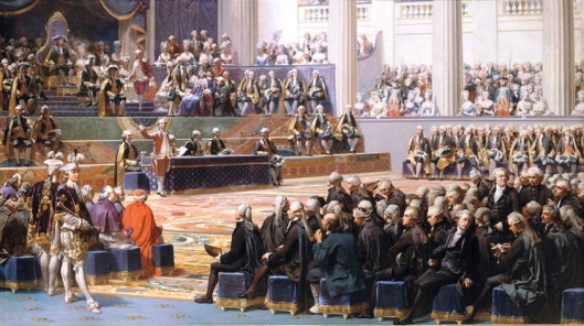 Painting by Auguste Couder showing the opening of the Estates-General