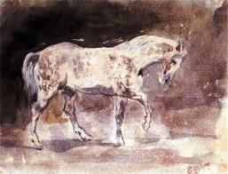 Horse (Cheval) (watercolour)