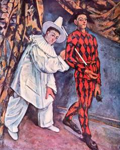 Pierrot and Harlequin, Mardi-Gras. 1888