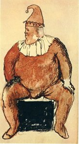 Seated Fat Clown, by Pablo Picasso, 1905