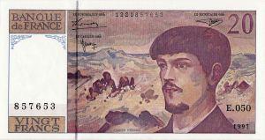 A Twenty Frank banknote, 1997