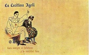 Advertisement for La  Lecitina Agell, 1902