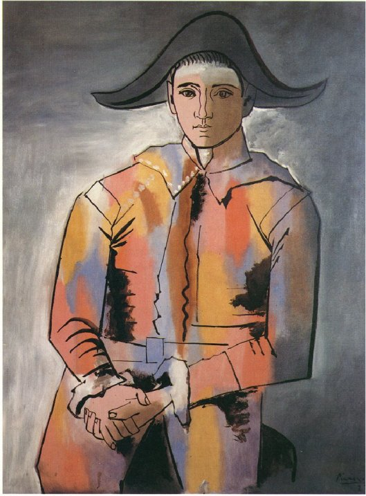 Harlequin with his hands crossed (Jacinto Salvado), 1923
