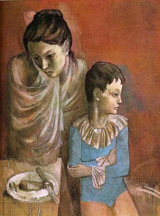 Mother and Child, baladins, 1905
