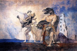 The Remains of the Minotaur in Harlequin's Costume, 1936
