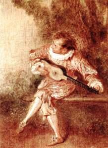 The Serenader, by Watteau