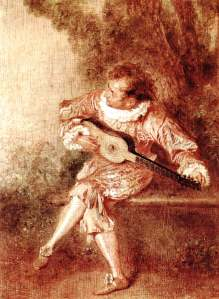 The Serenader, by Watteau