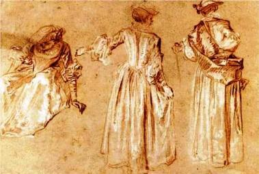 Three Studies of a Lady with Hat